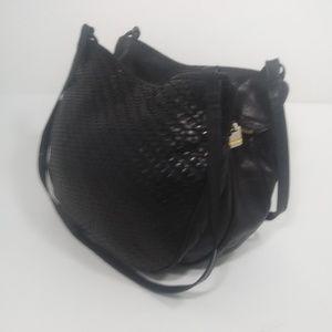 Bottega Veneta Intrecciato Black Leather Hobo Bag